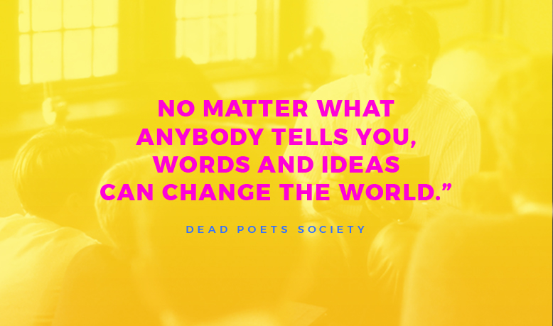 Words & ideas can change the world